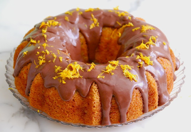 orange bundt cake with chocolate icing | Desserts | Pinterest