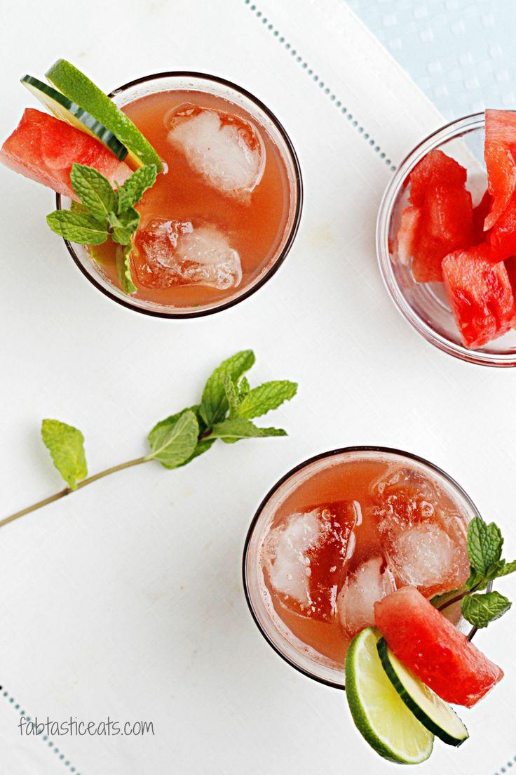 Watermelon Cucumber & Mint Cooler | Drinks! | Pinterest