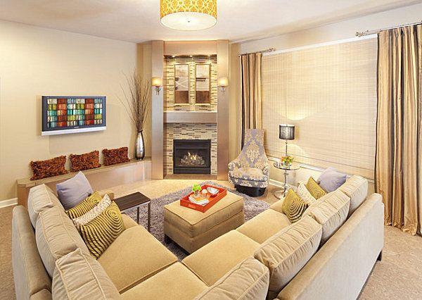 Corner Fireplace Furniture Layout No Place Like Home Pinterest