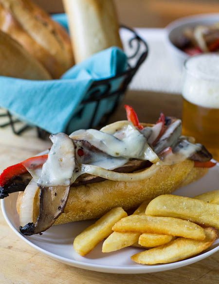 Portabella Cheesesteaks {Via @Spicy Southern Kitchen  Christin Mahrlig ...