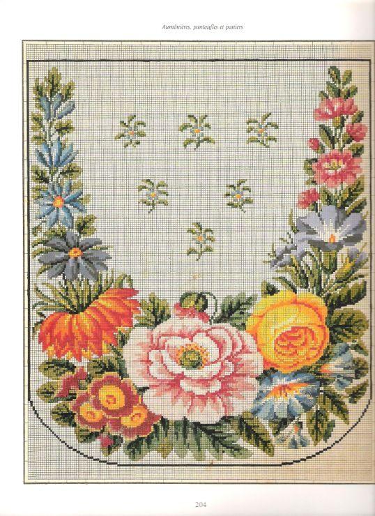 Старинные схемы вышивок для мебели