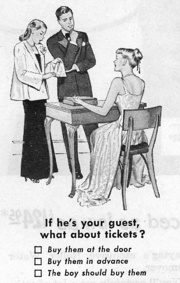 1950s dating tips