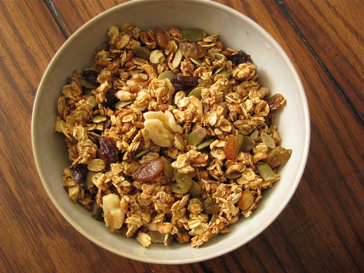 Amazing Pumpkin Granola, I did add flax seeds :)