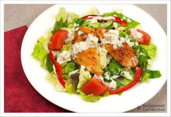 Sweet Chili Chicken Salad with Blue Cheese Ranch Dressing | Recipe