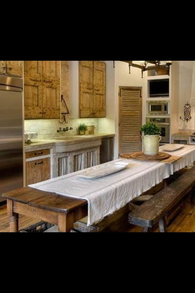 Beautiful Rustic Kitchen Home Pinterest