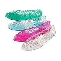 Jelly Shoes - not so comfortable, rocks wedged up in the heels and gross feet - they were frikkin' aweswome!