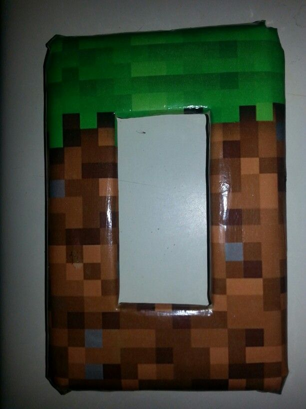 Minecraft swichplate cover for minecraft bedroom easy to for Bedroom ideas in minecraft