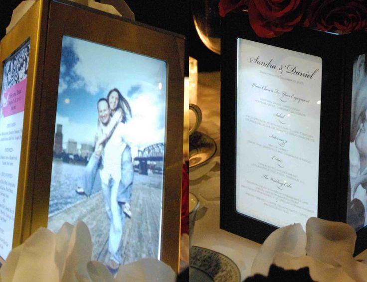Picture frame centerpiece wedding reception pinterest