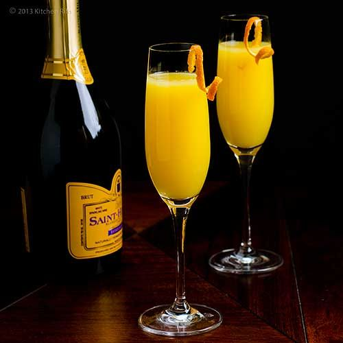 Mimosa Cocktail Recipe | breakfast | Pinterest