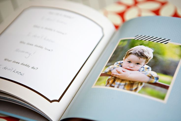 Adorable Father's Day gift - could easily be made with Shutterfly albums.