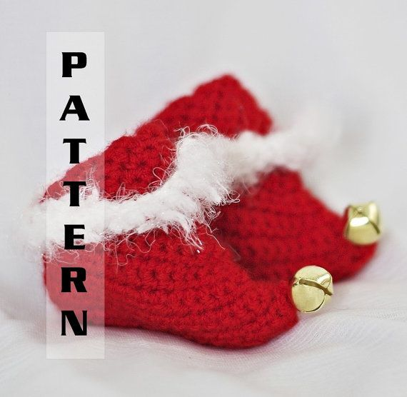 Free Crochet Pattern For Baby Elf Slippers : Baby Crochet Elf Slippers Pattern