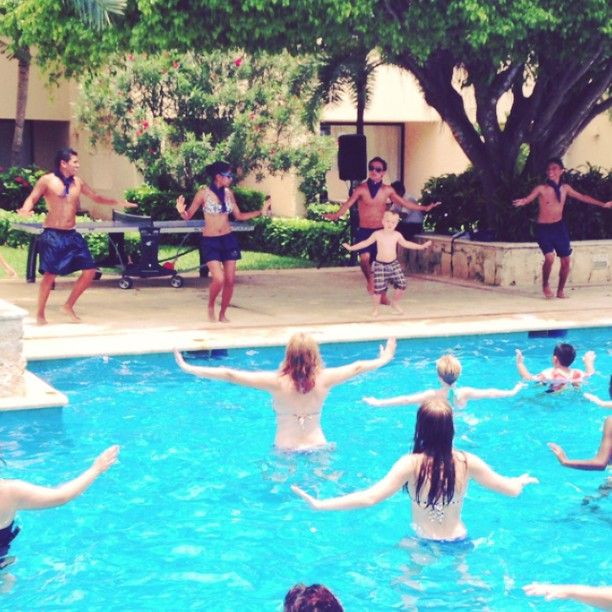 Kids do water aerobics too  Video courtesy of DavisionWater Aerobics Videos