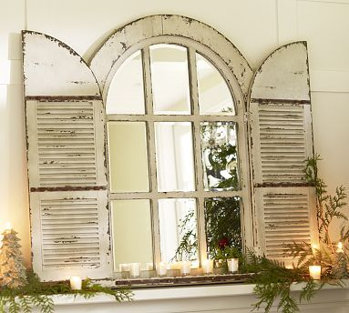 Arched Door Mirror #potterybarn
