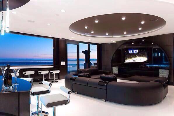 Futuristic living room | Travel | Pinterest