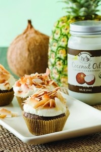 Chocolate Almond Cupcake with Coconut Frosting | Recipe