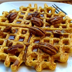 Spiced Pumpkin Waffles had these for Easter they were so awesome the ...