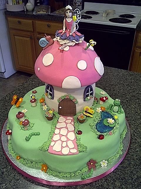 Fairy garden cake cakes pinterest for Fairy garden birthday cake designs
