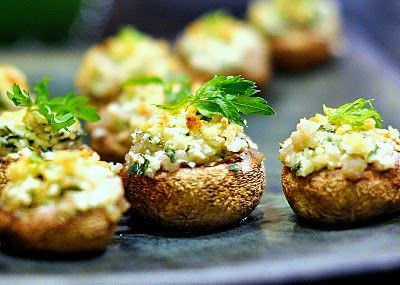 Goat Cheese Stuffed Mushrooms | Feed Me | Pinterest