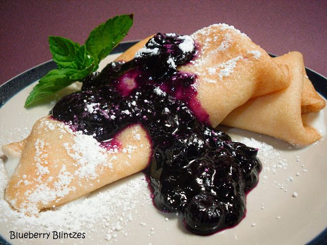 Comfy Cuisine: Blueberry-Cheese Blintzes | Breakfast | Pinterest