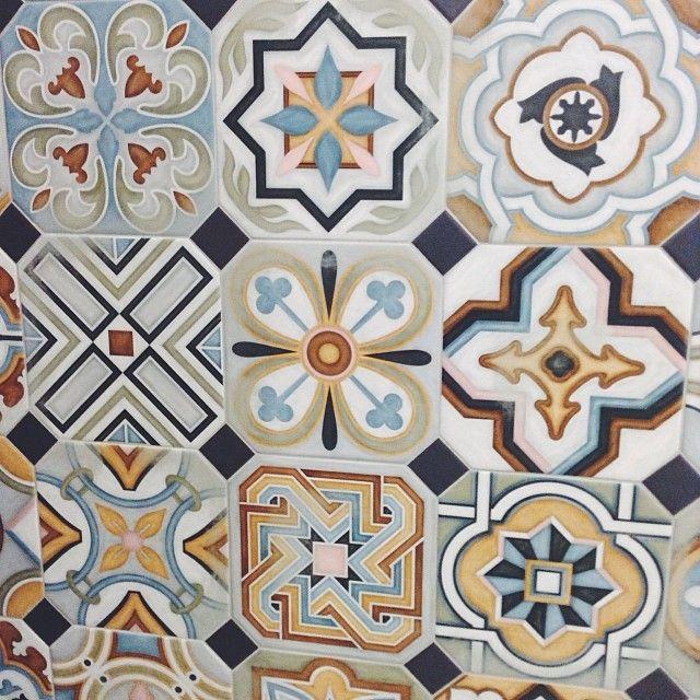 Mix and match patterned tiles for a unique decor