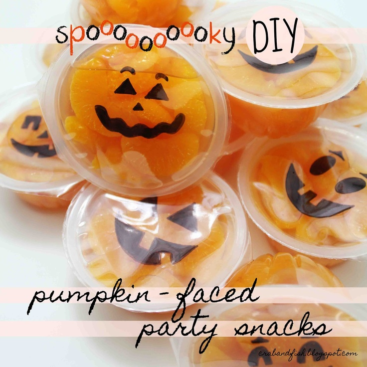 Spooky pumpkin faced party snacks holidays for Halloween food ideas for preschoolers