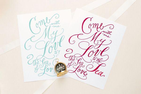Laura Hooper Calligraphy Snippet Ink Paper Pretties