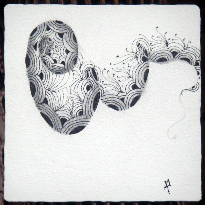 crescent moon, fescu Zentangle | Zentangle® ~ Collection