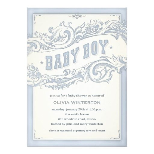 baby cowboy shower invitations
