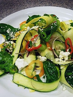 ribbon salad zucchini salad recipe two peas their pod zucchini ribbon ...