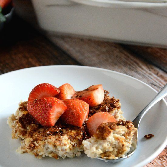 Creme Brulee Baked Oatmeal - Dessert or Breakfast? A healthy spin on ...