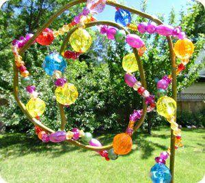 beaded garden decoration