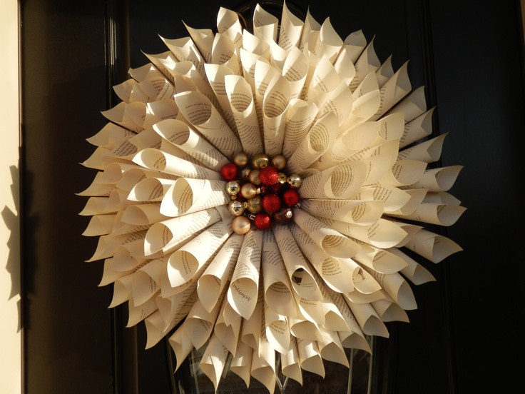 old paper wreath arts and crafts pinterest