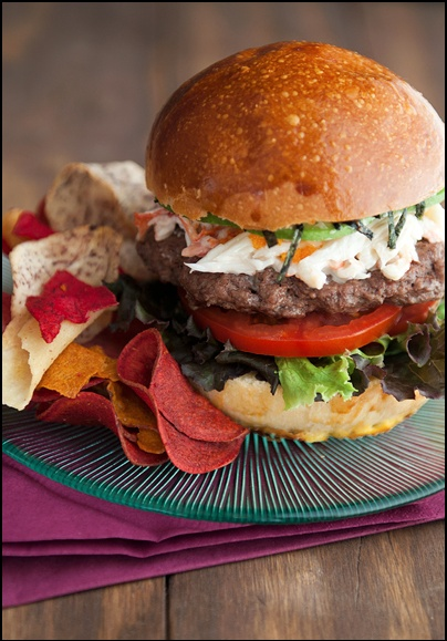 California Roll Burger | BON APPETIT | Pinterest