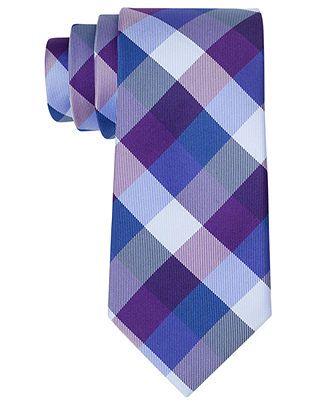 Tommy Hilfiger Tie, Slim Buffalo Tartan - Ties & Pocket Squares - Men - Macy's