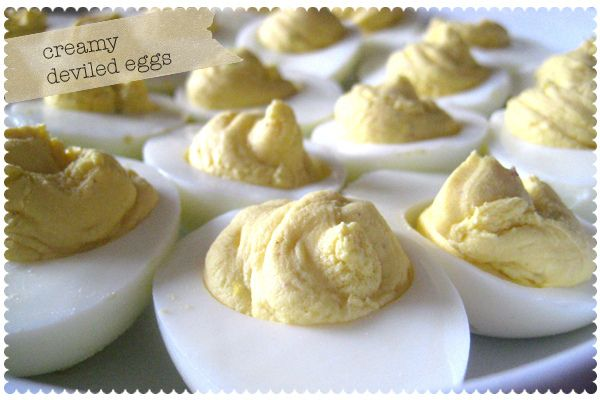 Creamy Deviled Eggs by Recipe for Crazy | Easter | Pinterest