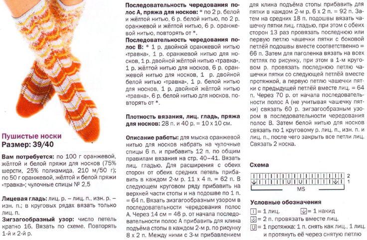 К связать носки на 5 спицах с подробным описанием