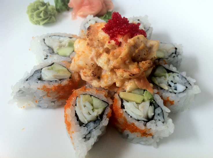 Volcano Roll sushi, delicous! | Bon Appetit | Pinterest