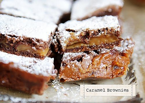 caramel brownies... mmm! This is the first thing I'm making in my new ...