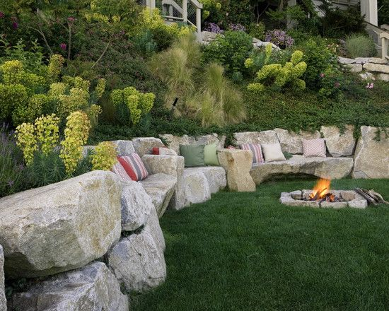 Retaining Wall Backyard Slope : Eclectic Residential Steep Slope Landscaping Design, Pictures, Remodel