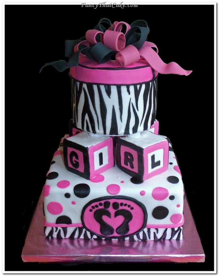 Pink And Black Baby Shower Ideas