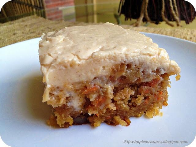 Life's Simple Measures: Gooey Cinnamon Carrot Cake -- This has fall ...