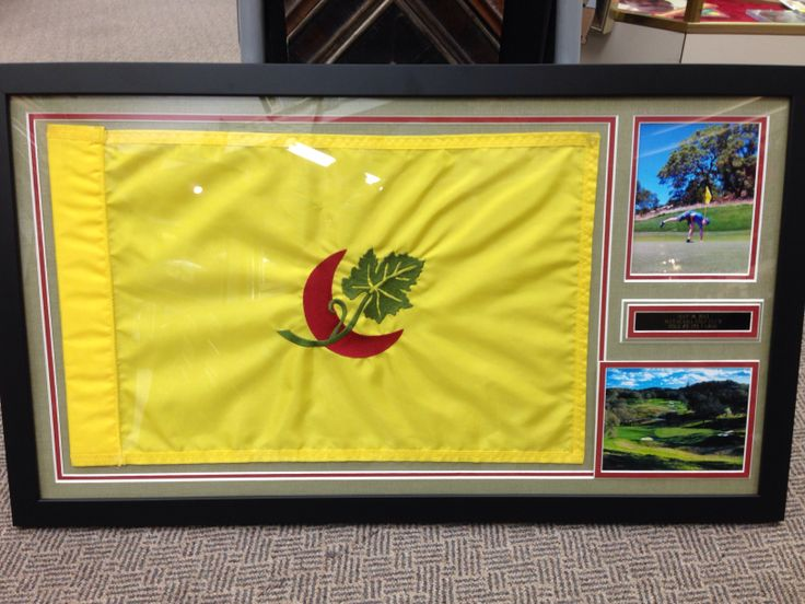 framing flags for display