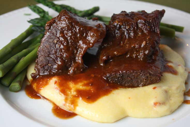 Braised Short Ribs With Creamy Polenta Recipe — Dishmaps