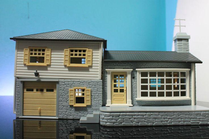 Plasticville split level house o scale vintage unassembled for Split level kit homes