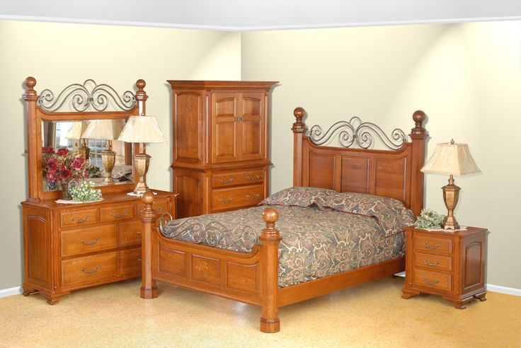 Amish Oak Savannah Bedroom Set