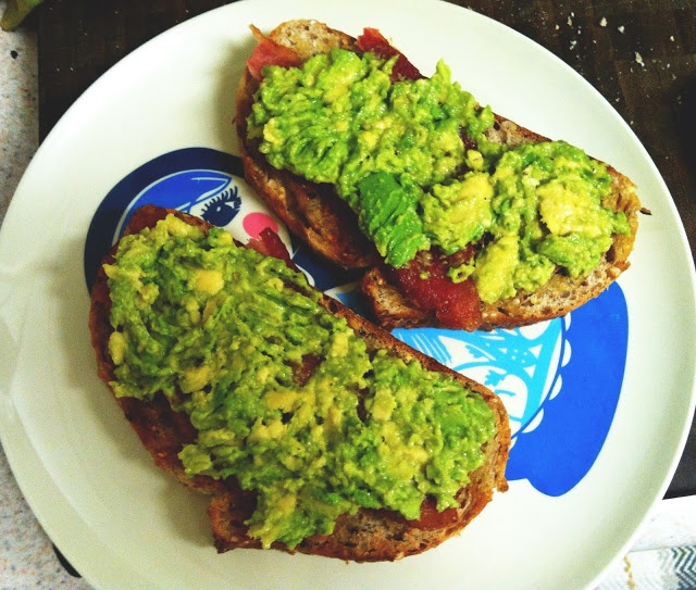 Avocado + Bacon Toasts. | Stuff Your Pie Hole! | Pinterest