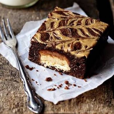 Peanut Butter Snickers Brownies | Recipes to try | Pinterest