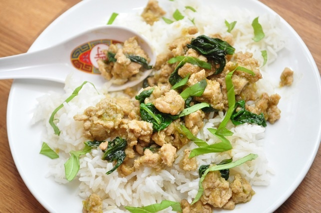 Spicy Chicken with Basil (Gai Pad Krapow). Thai food, so that I can ...