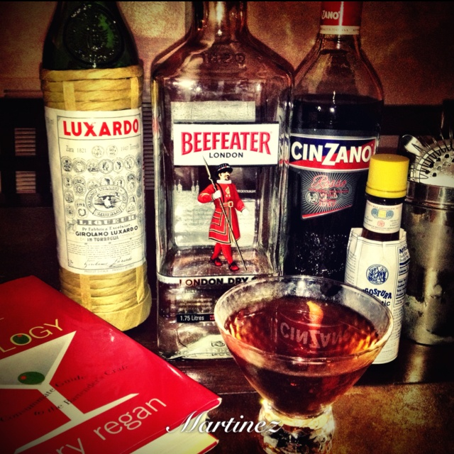 The Martinez Cocktail | Gimme a Drink! | Pinterest