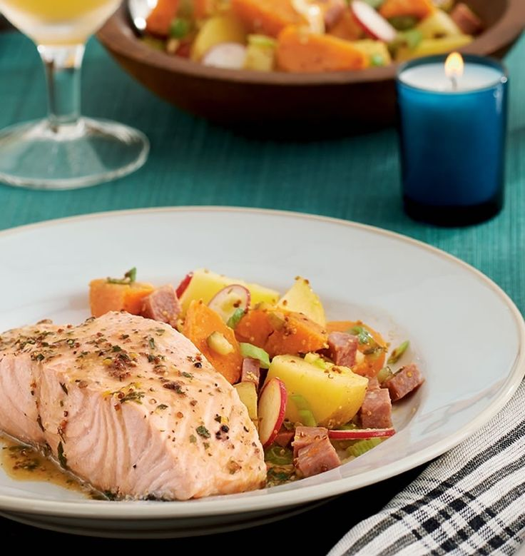 poached-salmon-with-mustard-pan-sauce - poaching results in a ...